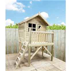 5 x 7 Wooden Tower Playhouse