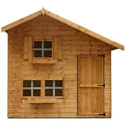 8 x 6 Wooden Cottage Playhouse - 2 Storey