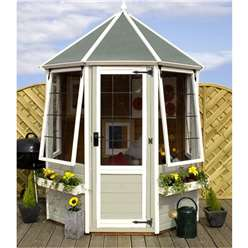 6 x 6 Buttermere Octagonal Summerhouse (12mm Tongue and Groove Floor)