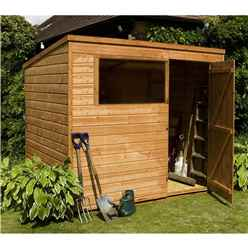8 x 6 Tongue and Groove Pent Shed With Single Door + 1 Window (solid 10mm OSB Floor)