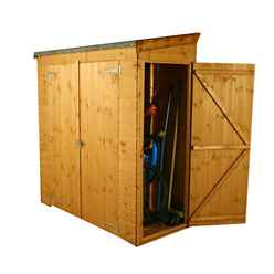 6 x 2.6 Tongue and Groove Pent Shed With Double Doors And Universal Side Door (10mm Solid OSB Floor)