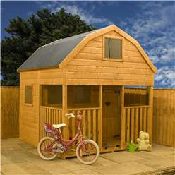 7 x 7 Barn Double Storey Wooden Playhouse