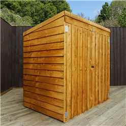 "4' 8"" x 3' Overlap Pent Mower Shed (10mm Solid OSB Floor)"