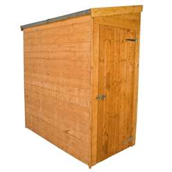 6 x 3 Tongue and Groove Tall Pent Shed *No Front Doors* With Universal Side Door (10mm Solid OSB Floor)
