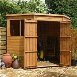 7 x 7 Tongue And Groove Corner Shed With Double Doors + 2 Windows (10mm Solid OSB Floor)