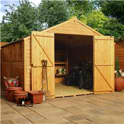10 x 10 Overlap Apex Workshop With Double Doors + 4 Windows (10mm Solid OSB Floor)