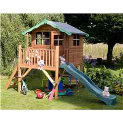 5 x 7 Wooden Tower Playhouse and Slide