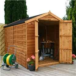10 x 6 Windowless Overlap Apex Shed With Double Doors (10mm Solid OSB Floor)