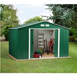**PRE-ORDER: DUE BACK IN STOCK 21ST AUGUST** 10 x 12 Select Value Metal Shed (3.21m x 3.62m)