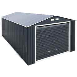 12 X 38 Value Metal Garage - Anthracite Grey (3.72m X 11.45m)