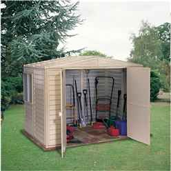OOS - BACK W/C 15TH MARCH 2021 - 8 X 8 Select Duramax Plastic Pvc Shed With Steel Frame (2.39m X 2.39m)