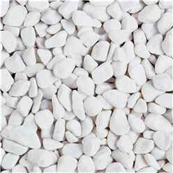Spanish White Pebbles Gravel - Bulk Bag 850 Kg