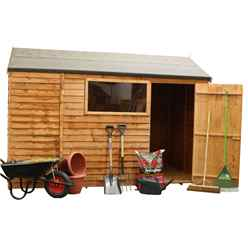 6 x 10 Reverse Overlap Apex Shed With Single Door + 1 Window (10mm Solid OSB Floor)