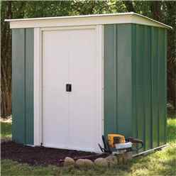 6 x 4 Green Metal Pent Shed (1.94m x 1.19m)