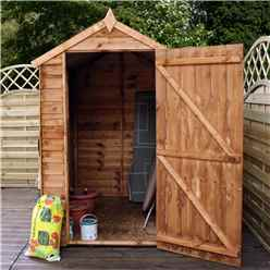6 x 4 Buckingham Overlap Apex Shed With Single Door + 1 Window (10mm Solid OSB Floor)