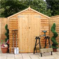 10 x 6 Cambridge Overlap Apex Shed With Double Doors + 4 Windows (10mm Solid OSB Floor)