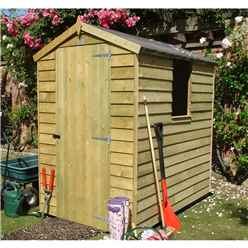 6 X 4 Overlap Apex Pressure Treated Garden Shed (10mm Solid Osb Floor)