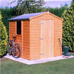 6 x 6 (1.79m x 1.79m) - Tongue And Groove - Apex Garden Shed / Workshop - Single Door - 12mm Tongue And Groove Floor