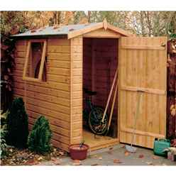 7 x 5 (2.05m x 1.62m) - Tongue And Groove - Apex Garden Shed / Workshop - Single Door - 1 Opening Window - 12mm Tongue And Groove Floor