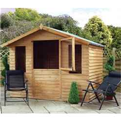 *DISCO 2/1/19* 7 x 5 Newmarket Overlap Summerhouse + Stable Door (10mm Solid OSB Floor)