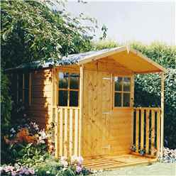 7 X 7 Tongue And Groove Apex Garden Shed + Extra Veranda (12mm Tongue And Groove Floor) (7ft x 9ft with verandah)