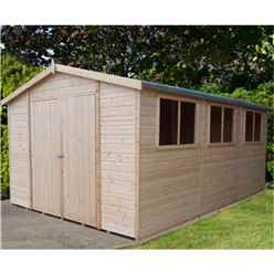 15 x 10 (4.48m x 2.99m) - Tongue And Groove - Wooden Garden Shed / Workshops - 12mm Tongue And Groove Floor And Roof