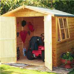 7 x 7 (2.05m x 2.05m) - Tongue And Groove - Pressure Treated Apex Shed - 12mm Tongue And Groove Floor