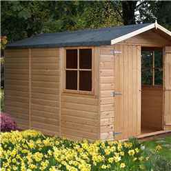 10 X 7 Tongue And Groove Pressure Treated Apex Shed (12mm Tongue And Groove Floor)