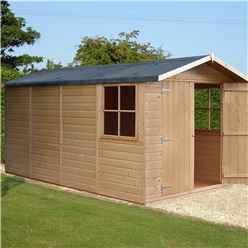 13 x 7 (4.03m x 1.98m) - Tongue And Groove - Pressure Treated Apex Shed - 12mm Tongue And Groove Floor