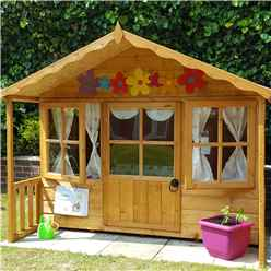 ** IN STOCK LIVE BOOKING ** 6 X 6 (1.79m X 1.19m) -  Playhouse With Veranda (core)