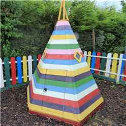 7 x 6 (2.11m x 1.77m) - Stowe Wigwam Playhouse