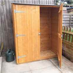 2 X 4 (0.64m X 1.22m) - Tongue And Groove - Pent Garden Store - Double Doors - 11mm Solid Osb Floor (core)