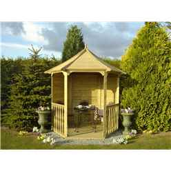 6ft X 7ft Tongue And Groove Summerhouse Arbour (12mm Tongue And Groove Floor And Roof) (pressure Treated)
