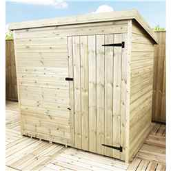 7 X 4 Windowless Pressure Treated Tongue And Groove Pent Shed With Single Door (please Select Left Or Right Door)