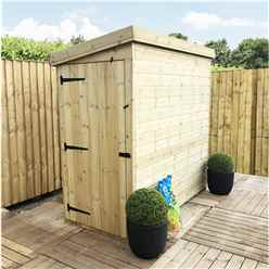 3 X 4 Windowless Pressure Treated Tongue And Groove Pent Shed With Single Door (please Select Left Or Right Door)