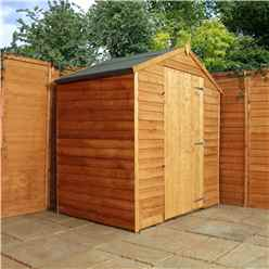 3 x 6 Windowless Overlap Apex Shed With Single Door (10mm Solid OSB Floor)