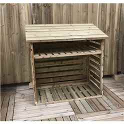 4 X 2 Small Pressure Treated Tongue And Groove Log Store