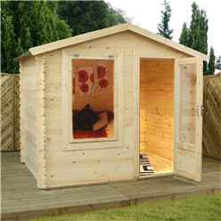 2.5m x 2m Apex Log Cabin (19mm Tongue and Groove) + Free Floor & Felt & Safety Glass