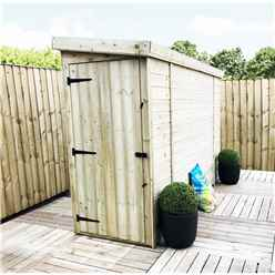 3 X 12 Windowless Pressure Treated Tongue And Groove Pent Shed With Single Door (please Select Left Or Right Door)