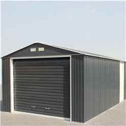 **PRE-ORDER: DUE BACK IN STOCK 18TH DECEMBER** 12 X 20 Select Anthracite Metal Garage (3.72m X 6.04m)