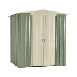 6 x 5 Premier Easyfix Mist Green Apex Shed (1.71m x 1.44m)