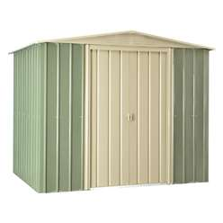 **PRE-ORDER: DUE BACK IN STOCK 30TH OCTOBER** 8 X 6 Premier Easyfix Mist Green Apex Shed (2.33m X 1.75m)