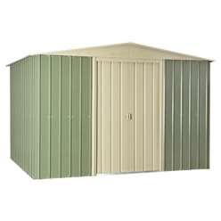 **PRE-ORDER: DUE BACK IN STOCK 30TH OCTOBER**  10 X 8 Premier Easyfix Mist Green Apex Shed (3.07m X 2.47m)