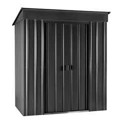 **PRE-ORDER: DUE BACK IN STOCK AUGUST 6TH** 6 X 4 Premier Easyfix Slate Grey Pent Shed (1.83m X 1.23m)