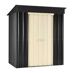 ** PRE-ORDER: DUE BACK IN STOCK: 04TH DECEMBER** 8 X 4 Premier Easyfix Slate Grey Pent Shed (2.46m X 1.23m)