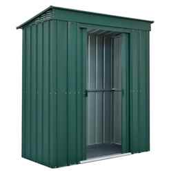 6 x 3 Premier Easyfix Heritage Green Pent Shed (1.83m x 0.92m)