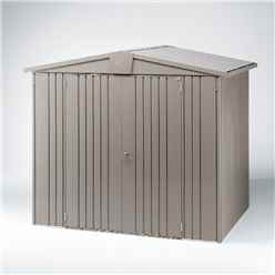 6 x 5 Premium Heavy Duty Quartz Grey Metal Shed (1.72m x 1.56m)