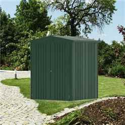 6 x 5 Premium Heavy Duty Dark Green Metal Shed (1.72m x 1.56m)