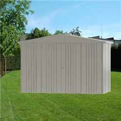10 X 5 Premium Heavy Duty Quartz Grey Metal Shed (3.16m X 1.56m)