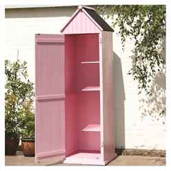 Pink Yarmouth Beach Style Apex Sentry Shed 2ft x 2ft